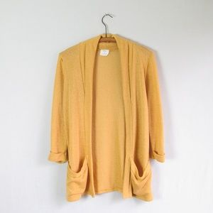 UO Pins & Needles yellow open front cardigan